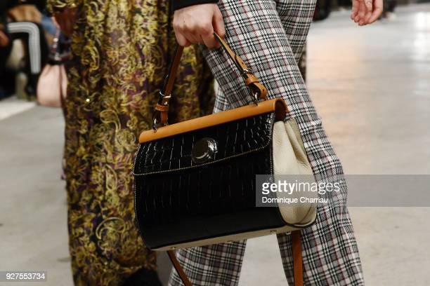 A model bag detail walks the runway during the Giambattista Valli show as part of the Paris Fashion Week Womenswear Fall/Winter 2018/2019 on March 5...