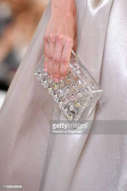 A model bag detail walks the runway during the Giorgio Armani Prive Haute Couture Fall/Winter 2019 2020 show as part of Paris Fashion Week on July 02...