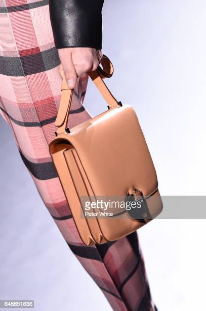 A model bag detail walks the runway during the Hermes show as part of the Paris Fashion Week Womenswear Fall/Winter 2017/2018 on March 6 2017 in...