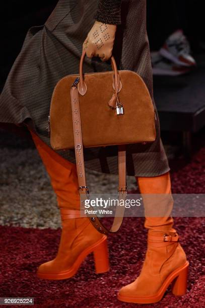 A model bag detail walks the runway during the Hermes show as part of the Paris Fashion Week Womenswear Fall/Winter 2018/2019 on March 3 2018 in...