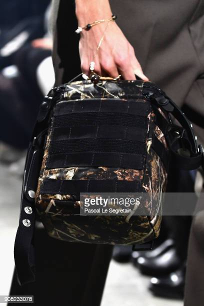 A model bag detail walks the runway during the Lanvin Menswear Fall/Winter 20182019 show as part of Paris Fashion Week on January 21 2018 in Paris...