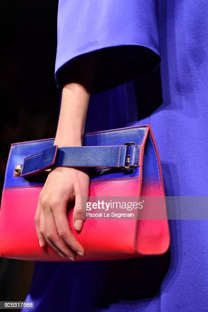 A model bag detail walks the runway during the Lanvin show as part of the Paris Fashion Week Womenswear Fall/Winter 2018/2019 on February 28 2018 in...