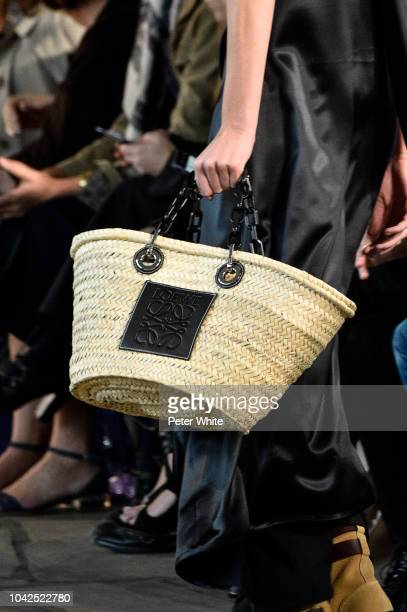 A model bag detail walks the runway during the Loewe show as part of the Paris Fashion Week Womenswear Spring/Summer 2019 on September 28 2018 in...
