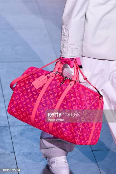 A model bag detail walks the runway during the Louis Vuitton Menswear Fall/Winter 20192020 show as part of Paris Fashion Week on January 17 2019 in...
