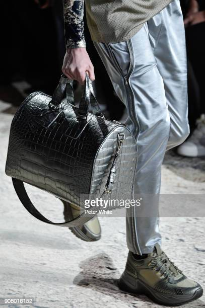 A model bag detail walks the runway during the Louis Vuitton Menswear Fall/Winter 20182019 show as part of Paris Fashion Week on January 18 2018 in...