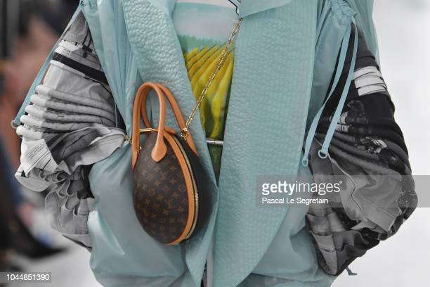 A model bag detail walks the runway during the Louis Vuitton show as part of the Paris Fashion Week Womenswear Spring/Summer 2019 on October 2 2018...
