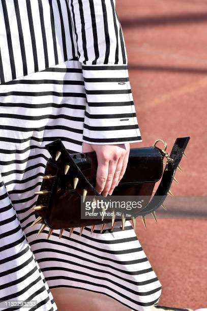 Model, bag detail, walks the runway during the Marques Almeida show as part of the Paris Fashion Week Womenswear Fall/Winter 2019/2020 on February...