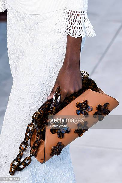 Model bag detail walks the runway during the Michael Kors fashion show at Spring Studios on September 14 2016 in New York City