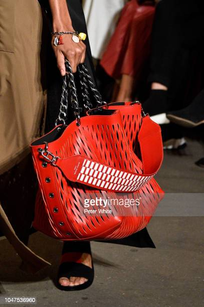 A model bag detail walks the runway during the Sonia Rykiel show as part of the Paris Fashion Week Womenswear Spring/Summer 2019 on September 29 2018...