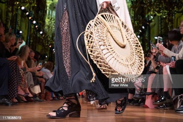 Model, bag detail, walks the runway during the Stella McCartney Womenswear Spring/Summer 2020 show as part of Paris Fashion Week on September 30,...
