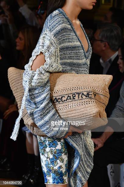 A model bag detail walks the runway during the Stella McCartney show as part of the Paris Fashion Week Womenswear Spring/Summer 2019 on October 1...