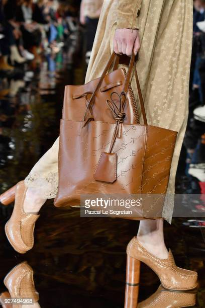 A model bag detail walks the runway during the Stella McCartney show as part of the Paris Fashion Week Womenswear Fall/Winter 2018/2019 on March 5...