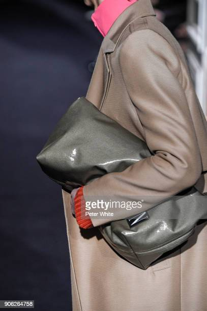 A model bag detail walks the runway during the Valentino Menswear Fall/Winter 20182019 show as part of Paris Fashion Week on January 17 2018 in Paris...