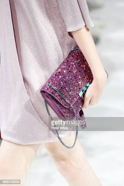 A model bag detail walks the runway during the Valentino show as part of the Paris Fashion Week Womenswear Spring/Summer 2018 on October 1 2017 in...
