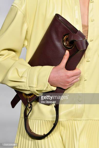 Model, bag detail, walks the runway for Jonathan Simkhai during New York Fashion Week: The Shows at Gallery I at Spring Studios on February 10, 2020...