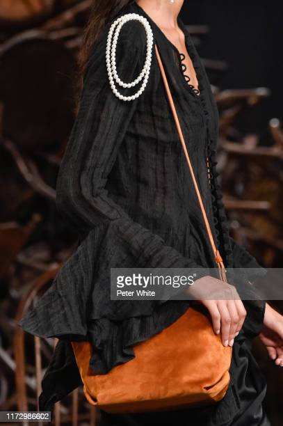 A model bag detail walks the runway for Khaite during New York Fashion Week The Shows on September 07 2019 in New York City