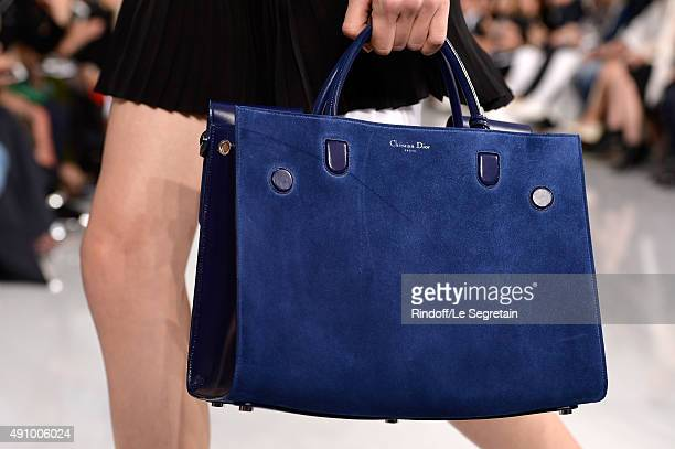 Model, bag detail, walks the runway of the Christian Dior show as part of the Paris Fashion Week Womenswear Spring/Summer 2016 at Cour Carree du...
