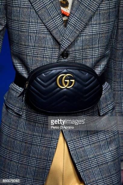 A model bag details walks the runway at the Gucci show during Milan Fashion Week Spring/Summer 2018 on September 20 2017 in Milan Italy