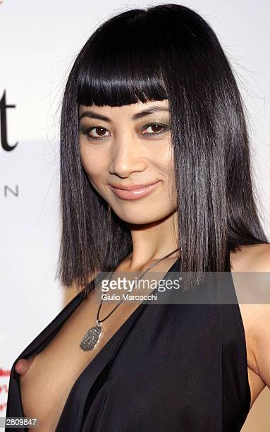 """Model Bai Ling attends """"The Red Party"""" on December 13, 2003 in Beverly Hills, California."""