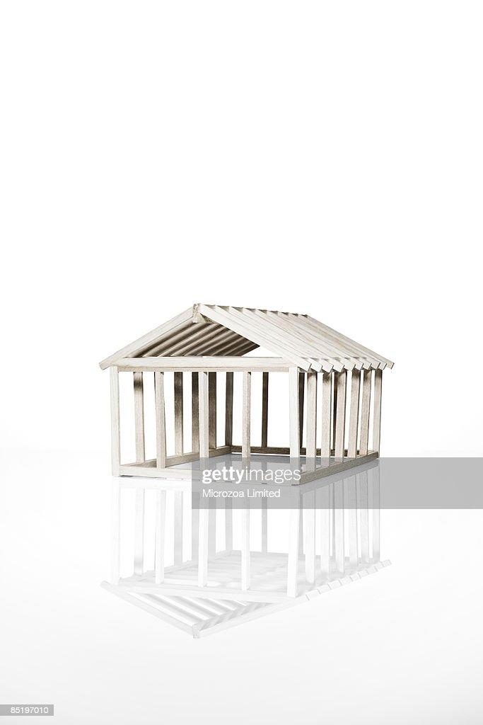 Model balsa house : Stock Photo