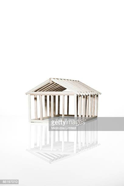 model balsa house - microzoa stock pictures, royalty-free photos & images