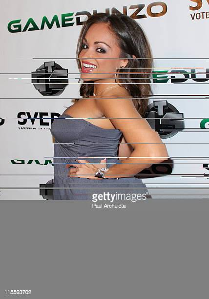 Model Bambi Lashell arrives at the E3 red carpet launch party at Suede in the Westin Bonaventure Hotel on June 7 2011 in Los Angeles California
