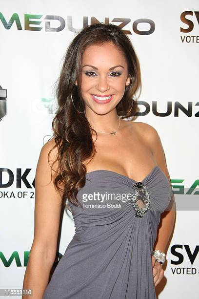 Model Bambi Lashell attends the E3 red carpet launch party held at club Suede on June 7 2011 in Los Angeles California