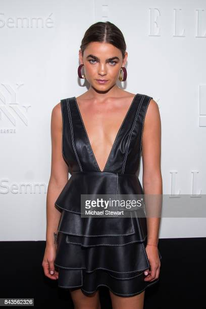 Model Bambi NorthwoodBlyth attends ELLE E IMG host A Celebration of Personal Style NYFW Kickoff Party on September 6 2017 in New York City
