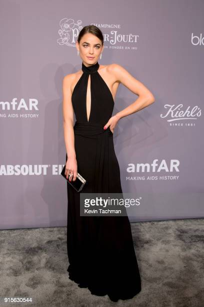 Model Bambi NorthwoodBlyth attends the 2018 amfAR Gala New York at Cipriani Wall Street on February 7 2018 in New York City