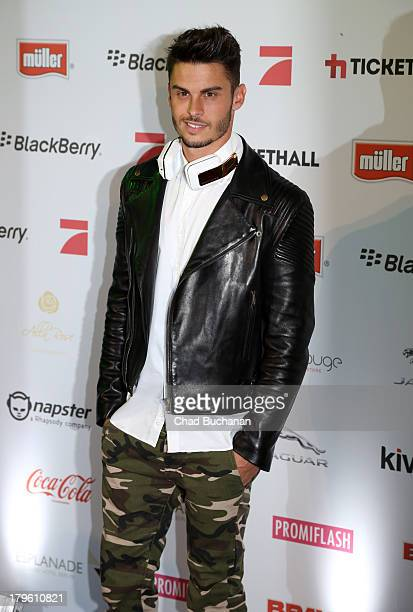 Model Baptiste Giabiconi attends Music Meets Media 2013 at Grand Hotel Esplanade on September 5, 2013 in Berlin, Germany.