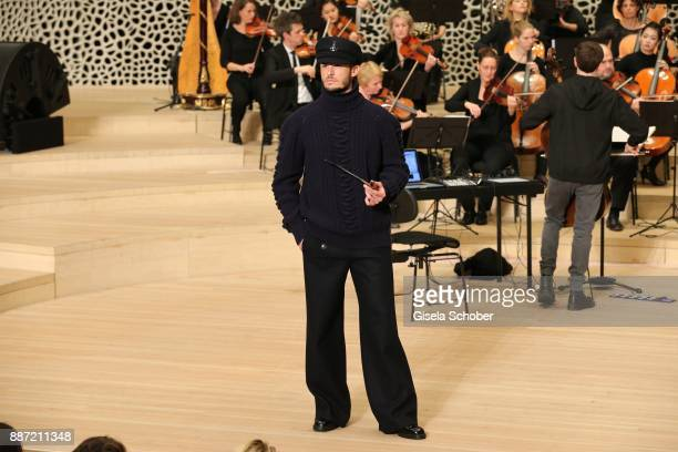 Model Baptiste Giabiconi during the Chanel Trombinoscope collection Metiers d'Art 2017/18 show at Elbphilharmonie on December 6 2017 in Hamburg...