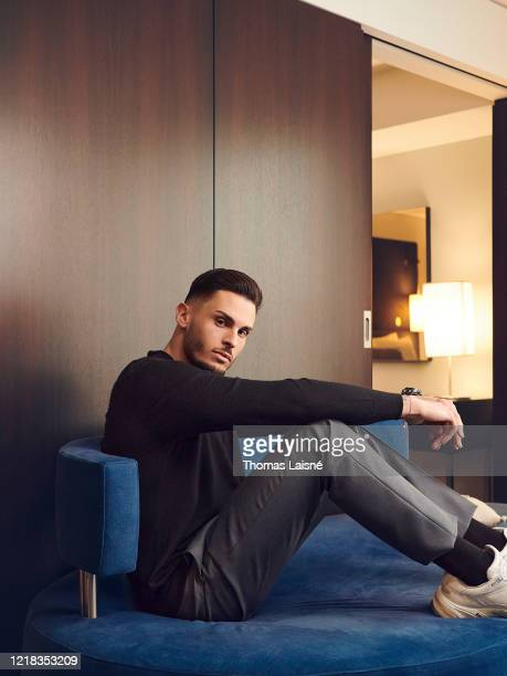 Model Baptiste Giabiconi poses for a portrait on February 7 2020 in Paris France