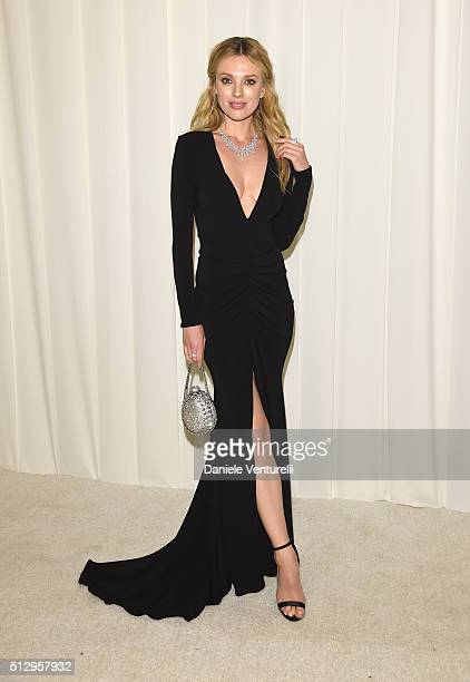 Model Bar Paly attends Bulgari at the 24th Annual Elton John AIDS Foundation's Oscar Viewing Party at The City of West Hollywood Park on February 28...