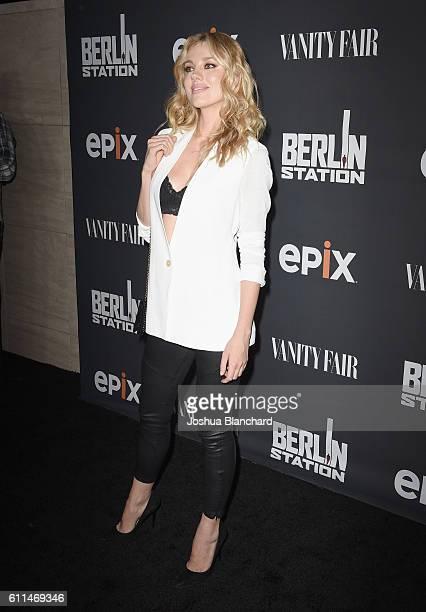 Model Bar Paly attends EPIX 'Berlin Station' LA premiere at Milk Studios on September 29 2016 in Los Angeles California
