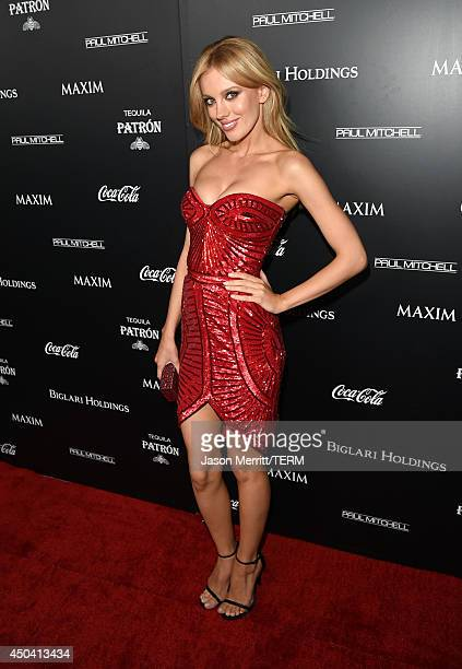 Model Bar Paly attends Maxim's Hot 100 Women of 2014 celebration and sneak peek of the future of Maxim at Pacific Design Center on June 10 2014 in...