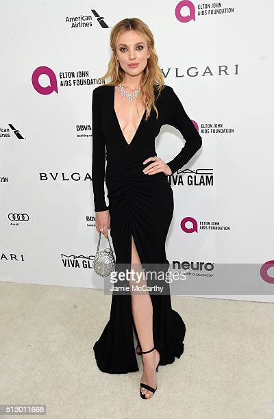 Model Bar Paly attends the 24th Annual Elton John AIDS Foundation's Oscar Viewing Party at The City of West Hollywood Park on February 28 2016 in...