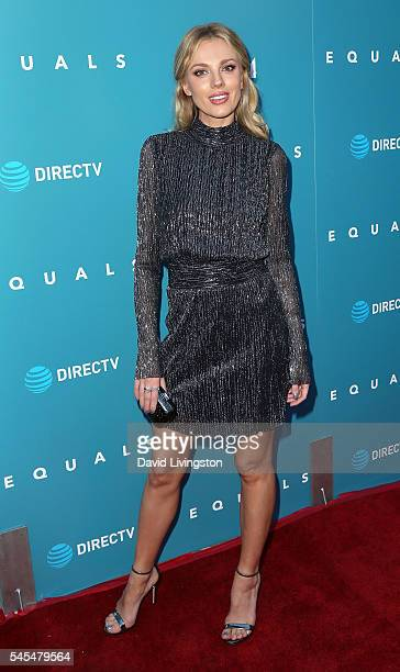 Model Bar Paly attends the premiere of A24's Equals at ArcLight Hollywood on July 7 2016 in Hollywood California