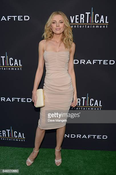 Model Bar Paly attends the premiere of Vertical Entertainment's Undrafted at ArcLight Hollywood on July 11 2016 in Hollywood California