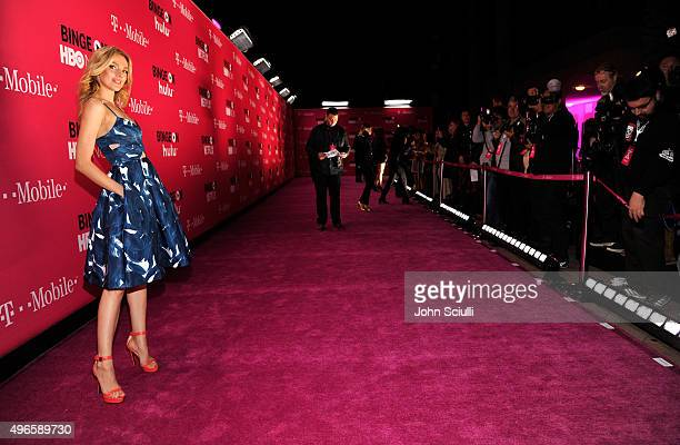 Model Bar Paly attends TMobile Uncarrier X Launch Celebration at The Shrine Auditorium on November 10 2015 in Los Angeles California