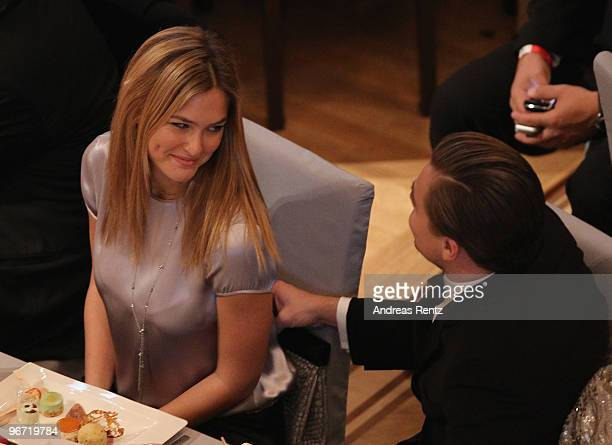 Model Bar Refaeli and actor Leonardo DiCaprio attend the Annual Cinema For Peace Gala during day five of the 60th Berlin International Film Festival...
