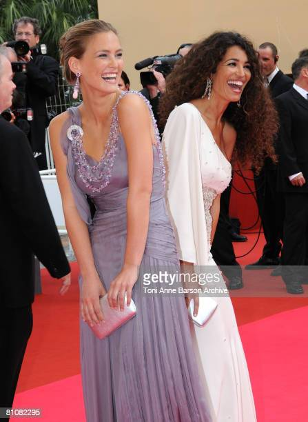 """Model Bar Refaeli and actress Afef Jnifen arrive at the """"Blindness"""" premiere during the 61st Cannes International Film Festival on May 14, 2008 in..."""