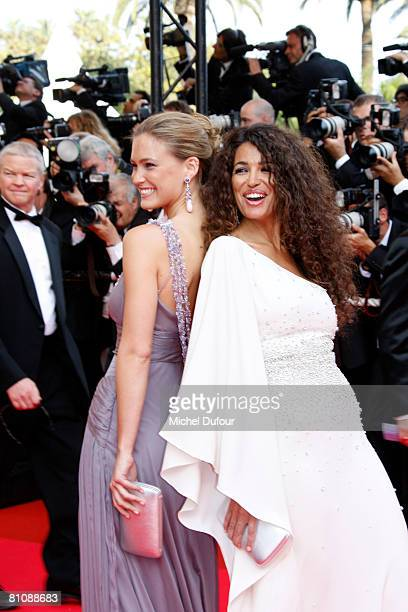 """Model Bar Refaeli and Afef Jnifen arrive at the premiere of """"Blindness"""" at the Palais des Festivals during the 61st International Cannes Film..."""