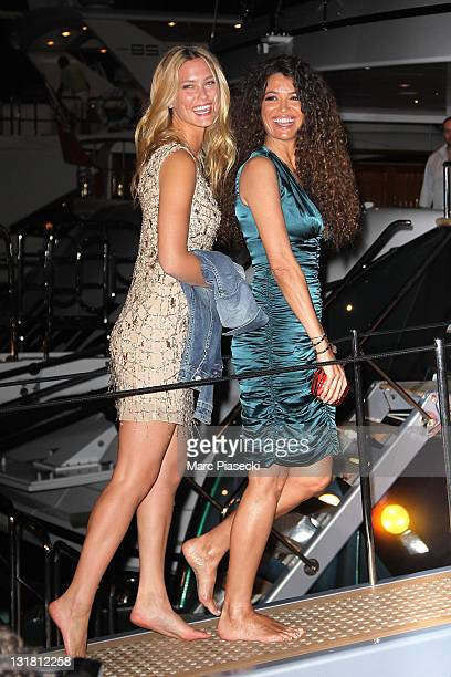 Model Bar Refaeli and Afef Jnifen attend the private dinner on 'Cavalli' yacht on May 18 2011 in Cannes France