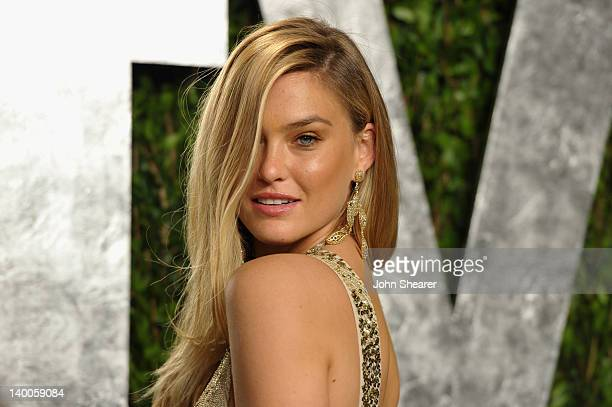 Model Bar Refaeli arrives at the 2012 Vanity Fair Oscar Party hosted by Graydon Carter at Sunset Tower on February 26 2012 in West Hollywood...