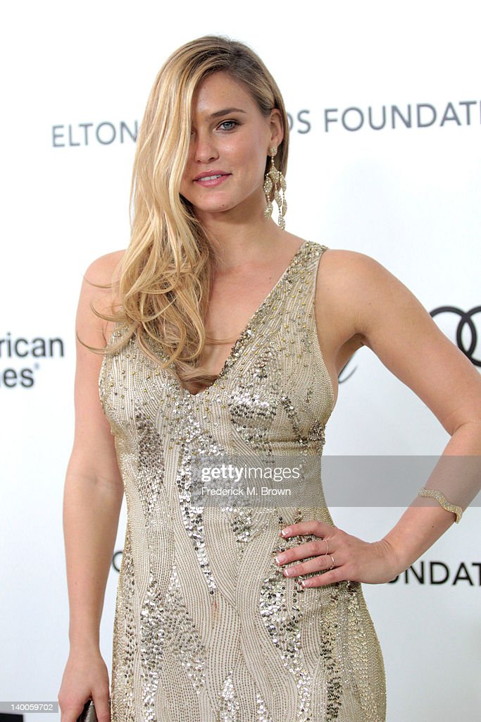 Model Bar Refaeli arrives at the 20th Annual Elton John AIDS Foundation's Oscar Viewing Party held at West Hollywood Park on February 26, 2012 in West Hollywood, California.