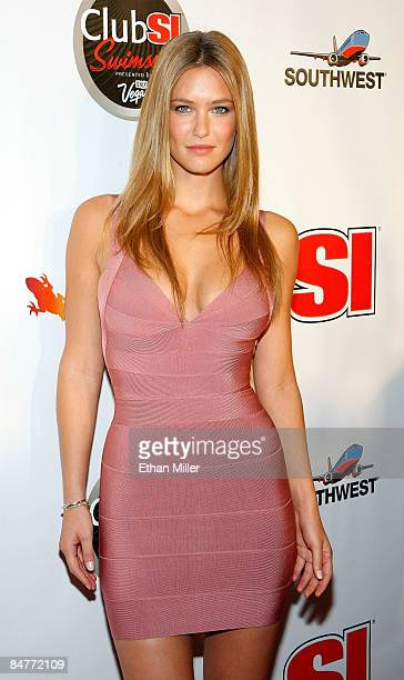 Model Bar Refaeli arrives at the LAX Nightclub at the Luxor Resort Casino during a launch party for the 2009 Sports Illustrated Swimsuit Issue...