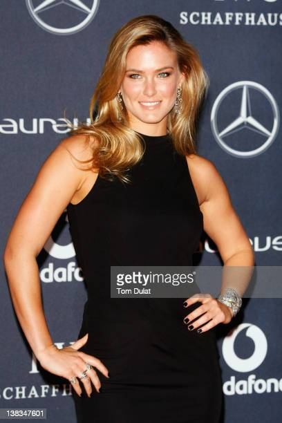 Model Bar Refaeli attends the 2012 Laureus World Sports Awards at Central Hall Westminster on February 6, 2012 in London, England.