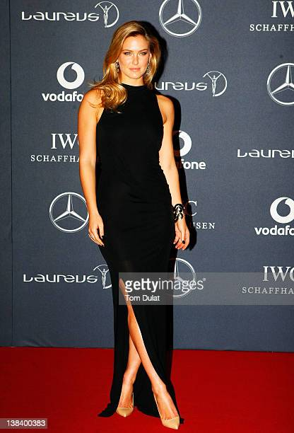 Model Bar Refaeli attends the 2012 Laureus World Sports Awards at Central Hall Westminster on February 6 2012 in London England