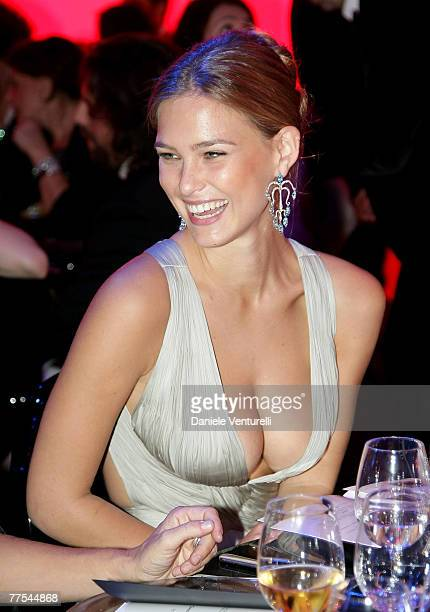 Model Bar Refaeli attends the amfAR's Inaugural Cinema Against AIDS Rome auction benefit held at the Spazio Etoile on October 26 2007 in Rome Italy