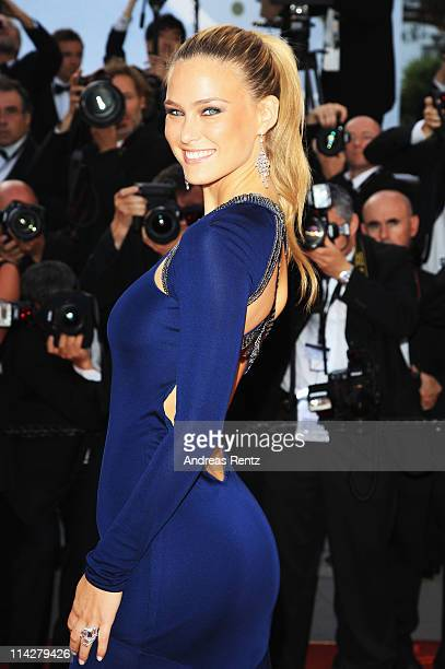 Model Bar Refaeli attends The Beaver premiere at the Palais des Festivals during the 64th Cannes Film Festival on May 17 2011 in Cannes France